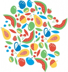 Fruit explosion vector