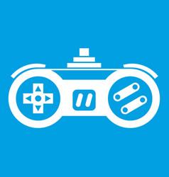 Gamepad icon white vector