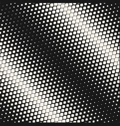 Geometric halftone seamless diagonal pattern vector