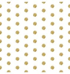 Gold foil shimmer glitter polkadot seamless vector image