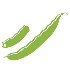 Green peas icon vector