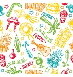 Hand drawn elements of Festa Junina vector image