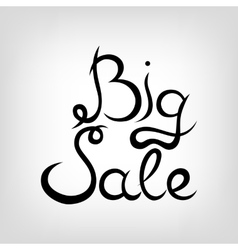 Hand-drawn Lettering Big Sale vector image