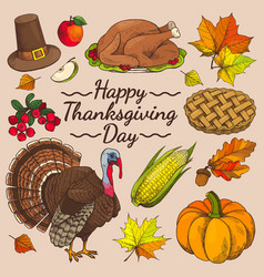 Happy thanksgiving day promo vector