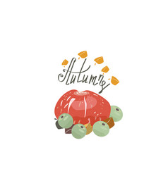 Harvest or thanksgiving background with pumpkins vector