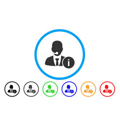 help desk manager rounded icon vector image