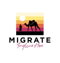 Hijrah travel inspiration logo design vector