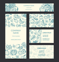 Identity banner brochure business card vector