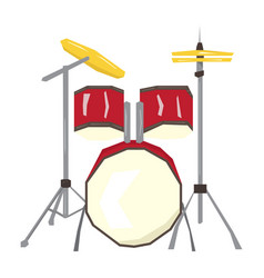 Isolated geometric drum set vector