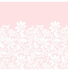 Lace border isolated on pink background vector