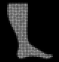 Leg halftone icon vector