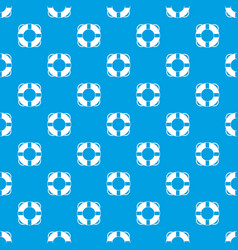 Lifeline pattern seamless blue vector