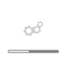 loading grey icon isolated vector image