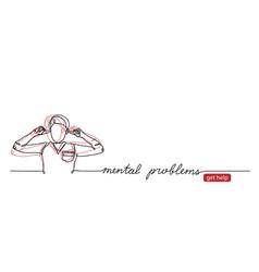Mental disorder problems web banner vector