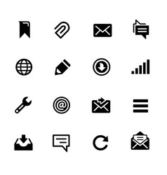 messages icons vector image
