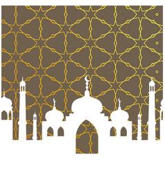 mosque islamic logo vector image