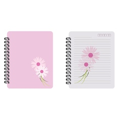 notebook fower vector image