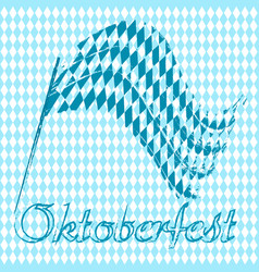 Oktoberfest banners in bavarian color flag and vector