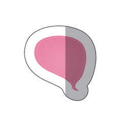 pink drop chat bubble icon vector image