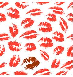 Print lipstick vector