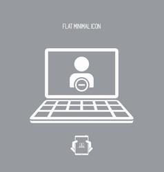 Private access flat icon vector