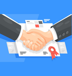 profitable business partnership vector image