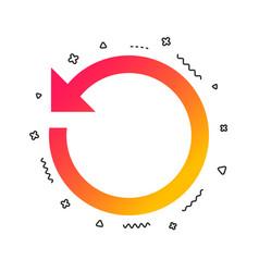 repeat icon refresh symbol loop sign vector image