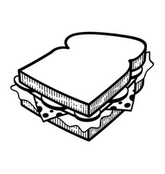 Sandwich cartoon illlustration vector