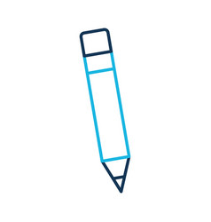 school wooden pencil utensil writing icon vector image