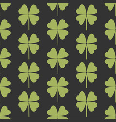 Seamless pattern with a simple leaf of clover vector