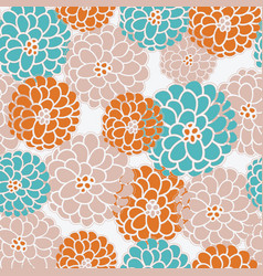 Seasonal floral pattern in modern fall colors vector