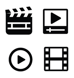 Set movie icons vector