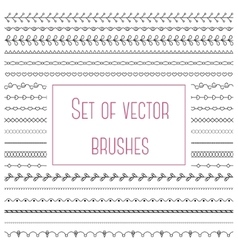 Set of simple brushes vector image
