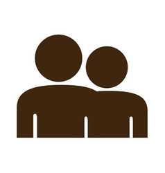 Silhouette pictogram people icon flat vector