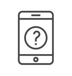 smartphone with question mark vector image vector image