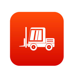 Stacker loader icon digital red vector