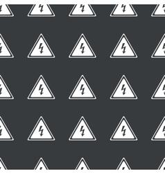 Straight black high voltage pattern vector image