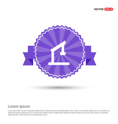 Table lamp - purple ribbon banner vector