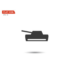 tank flat icon logo military army vector image