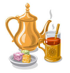 tea with delight vector image