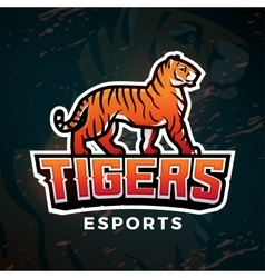Tiger sport logo Mascot design template vector