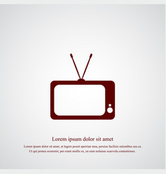 tv icon simple vector image