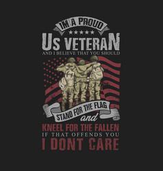 Us veteran solid soldier vector