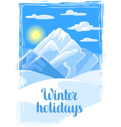winter holidays beautiful landscape vector image