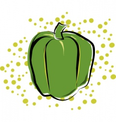 bell pepper vector image vector image