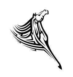 Black tribal horse mascot vector image