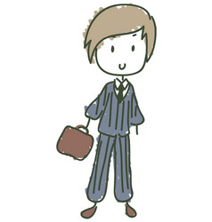 business kid vector image vector image