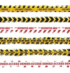 Danger tapes - grundge tape collection vector image