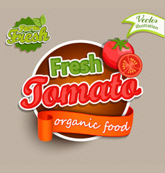 fresh tomato logo vector image vector image