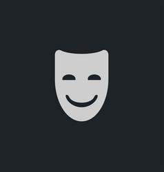 happy mask icon simple vector image